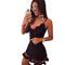 Nightclub lace black deep v-neck slim mini dress