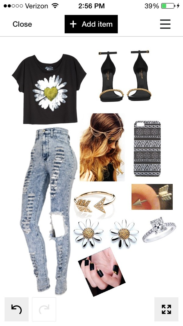 jeans polyvore shoes jewels shirt