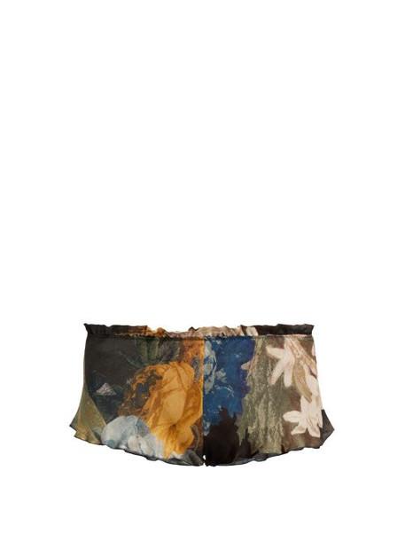 shorts pyjama shorts floral navy print silk