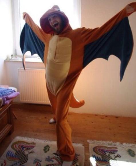 pokemon charmander jumpsuit onesie