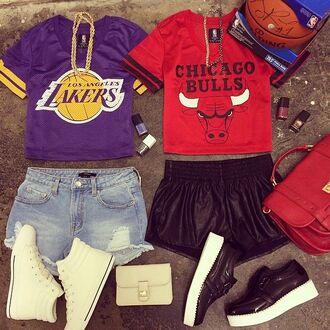 shorts nba sporty basketball jersey jersey basketball lakers chicago bulls