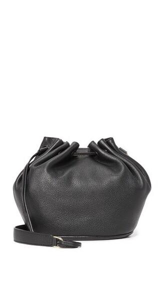 love drawstring bag bucket bag black