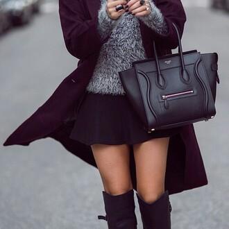 skirt bag jacket sweater streetwear streetstyle jewels shoes
