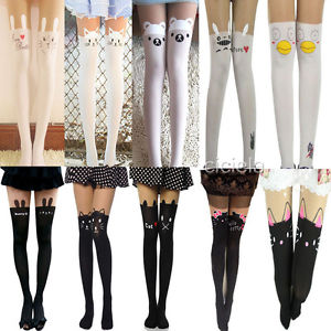 New Sexy Cat Tattoo Socks Sheer Pantyhose Mock Stockings Tights Leggings | eBay