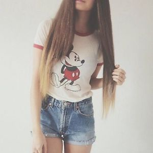 Brandy Melville Mickey Mouse Carolina Graphic Crop Top OSFM | eBay