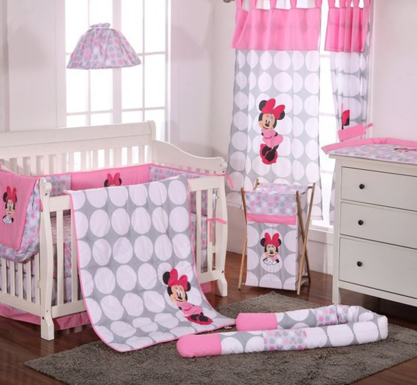 Home accessory baby bedding baby bedding set bedding bedroom mini mouse cot set wheretoget - Mini mouse bedroom ...