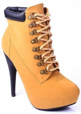 Amazon.com: JJF Shoes Compose01 Camel Tyrant Military Lace Up Platform Ankle Bootie Stiletto High Heel-5.5: Shoes