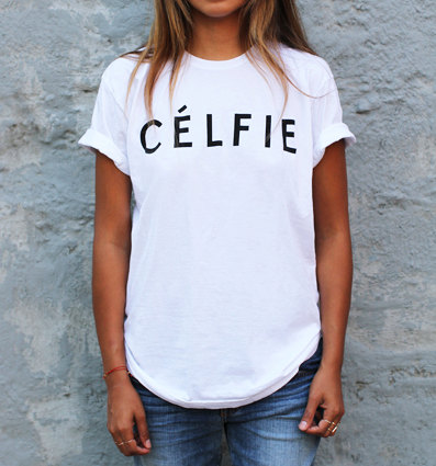 Womens celfie ashley tisdale selfie tshirt by thetshirtfactory