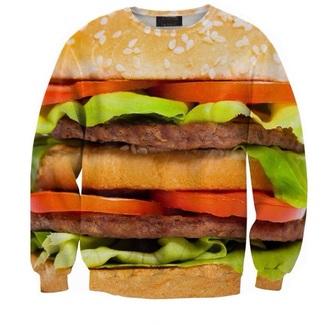 sweater hamburger sweatshirt