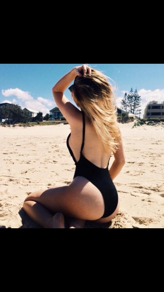 swimwear one piece open back