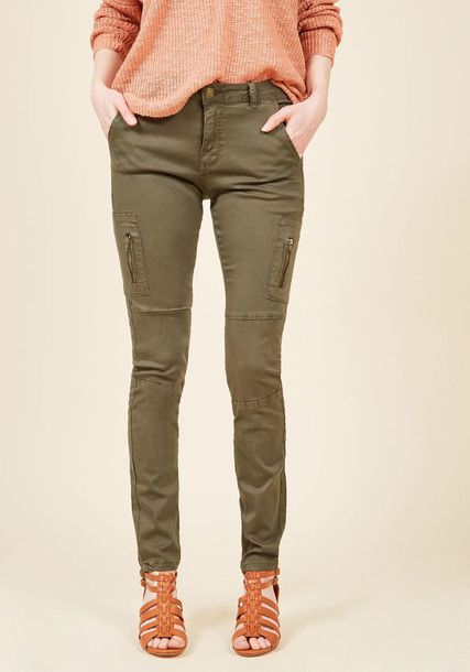LJN-360CARGOKH pants fashion beautiful perfect green olive green