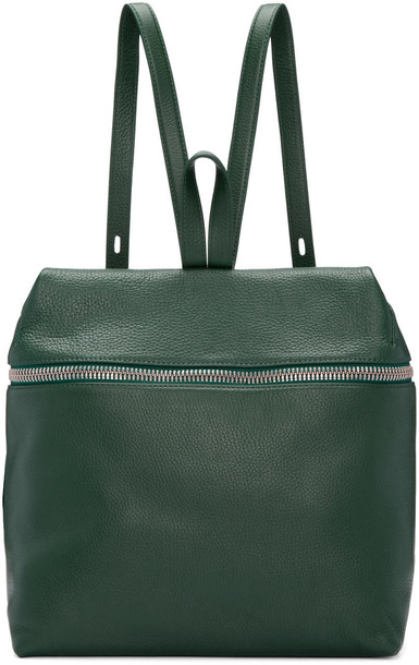 backpack leather backpack leather green bag