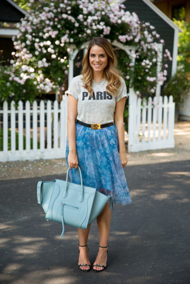 skirt shoes bag belt gal meets glam