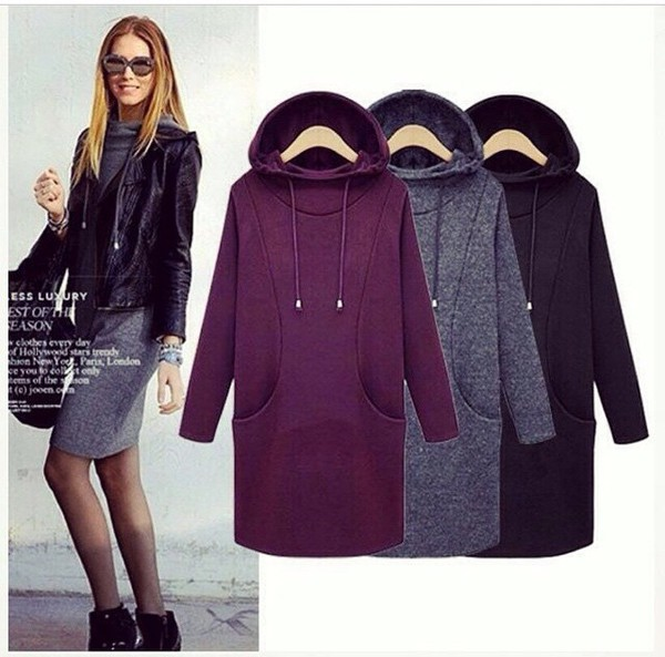 Dress hoodie hoodie dress cute sweater cute originals burgundy dress burgundy grey ...