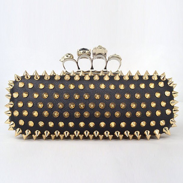 bag cool style clutch spikes knuckle clutch