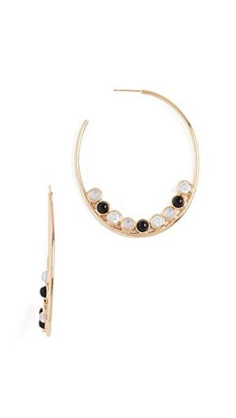 Jules Smith earrings hoop earrings clear gold black jewels