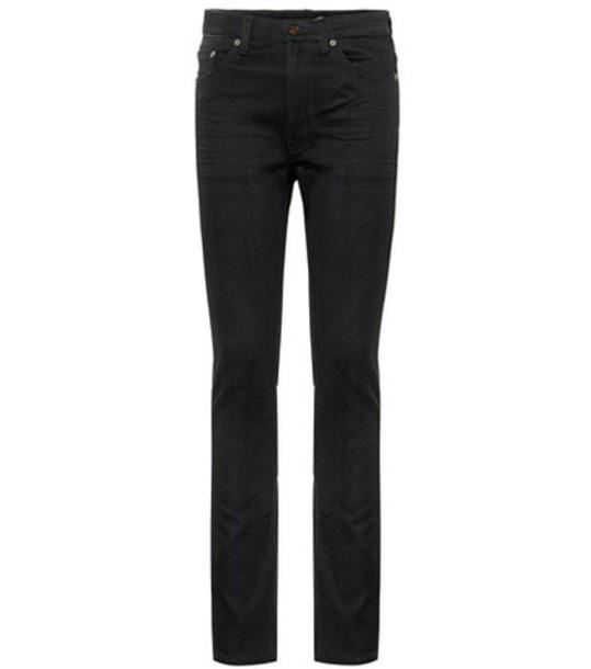 Saint Laurent jeans skinny jeans high black