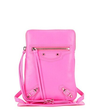 classic bag shoulder bag leather pink
