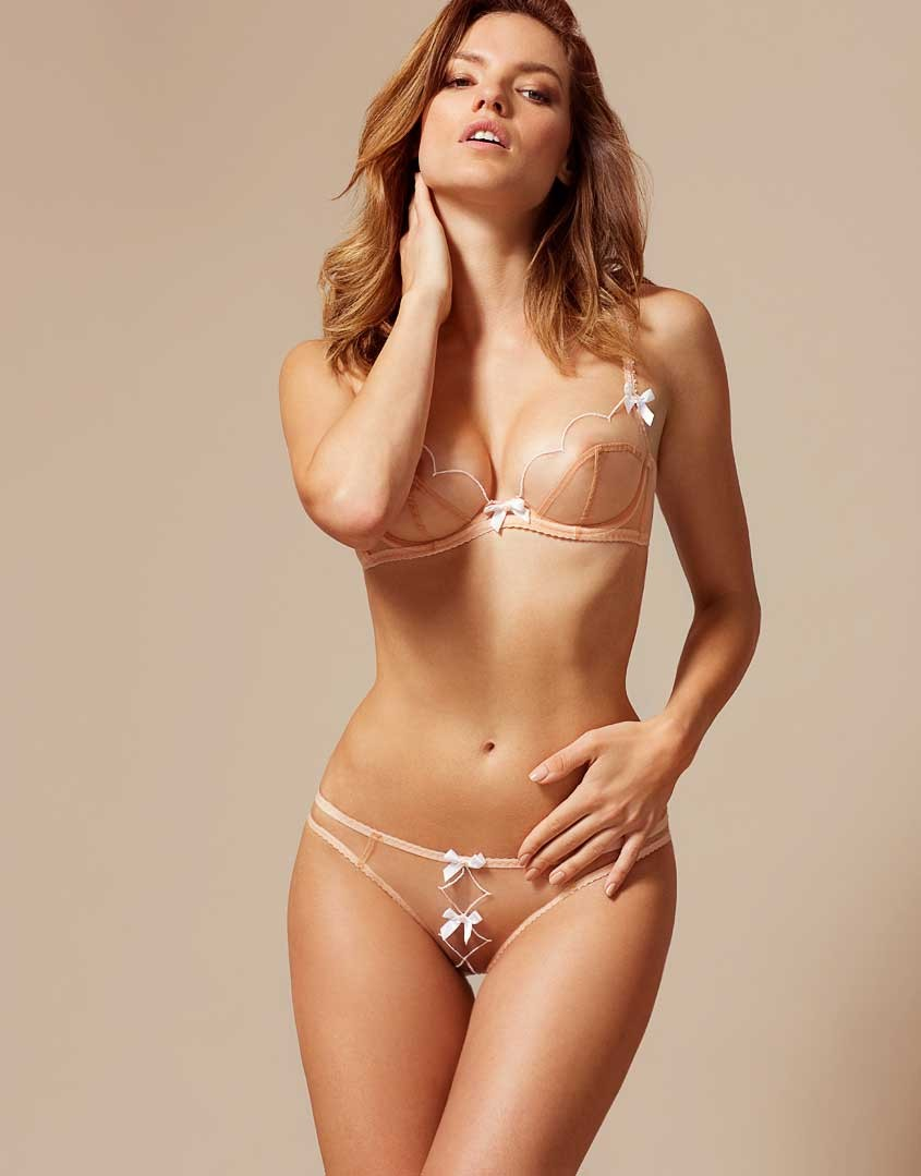 Lorna Thong In Nude And White | By Agent Provocateur