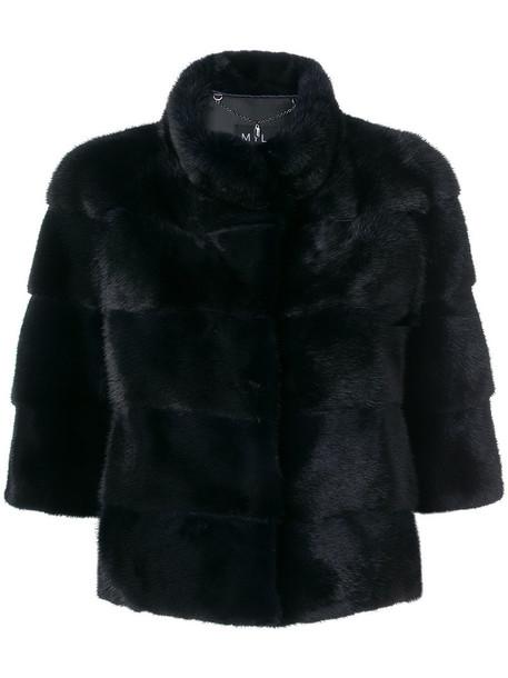 Cara Mila jacket cropped fur women blue