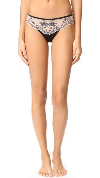 thong light black underwear