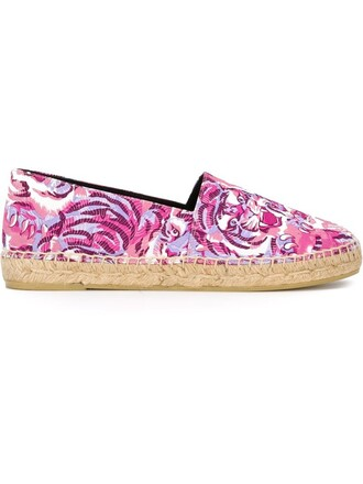 tiger espadrilles purple pink shoes