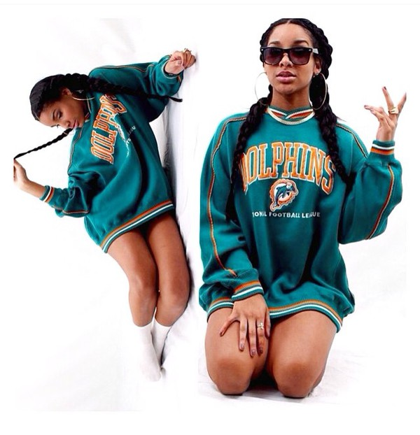 low priced 901ba dd444 Majestic Miami Dolphins American Football NFL Hoodie ...