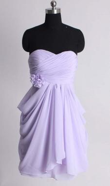 A-line empire waist chiffon dress/bridesmaid dresses