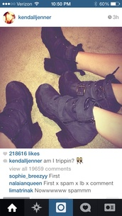 shoes,kendall jenner,boots,black