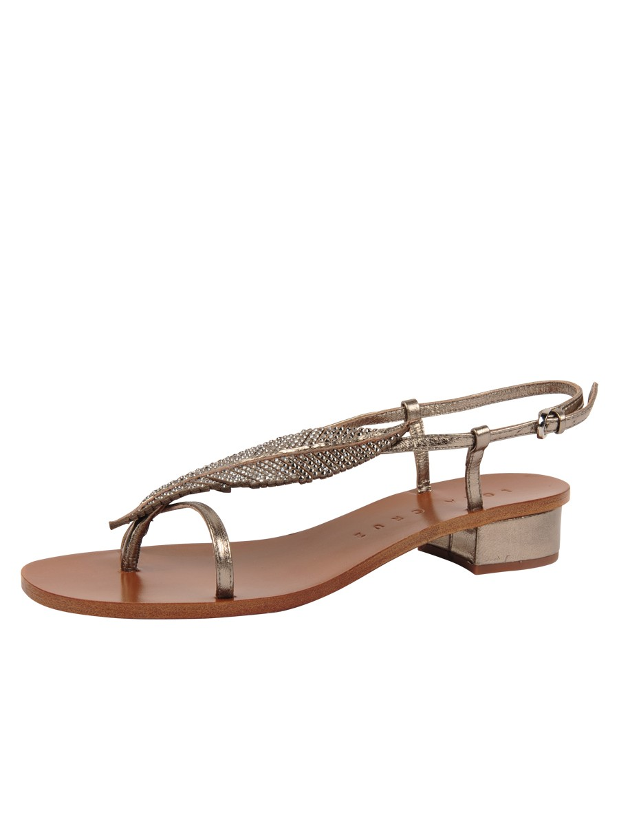 Studded leaf sandal