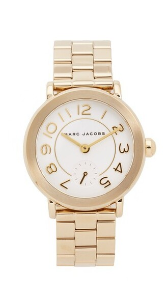 new classic watch gold white jewels