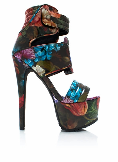 Painted-Blossoms-Strappy-Heels FLORAL - GoJane.com