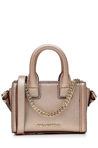bag shoulder bag leather rose