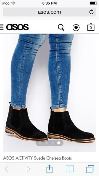 asos shoes boots suede chelsea boots chelsea topshop