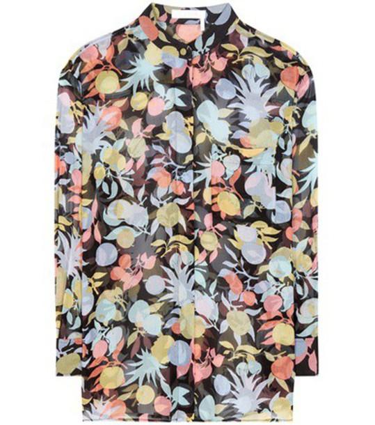 Chloe shirt silk top