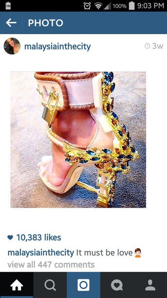 extravagant gold shoes