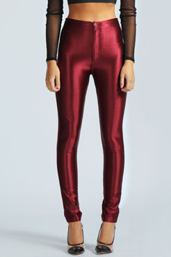 Samantha High Rise Disco Pants at boohoo.com