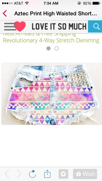 shorts aztec high waisted shorts cute shorts style aztec short