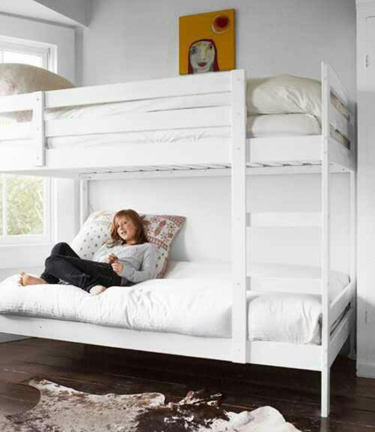 Home Accessory Bunk Bed Bedding Bedroom White Girl Art Home