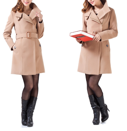 Long woolen outerwear