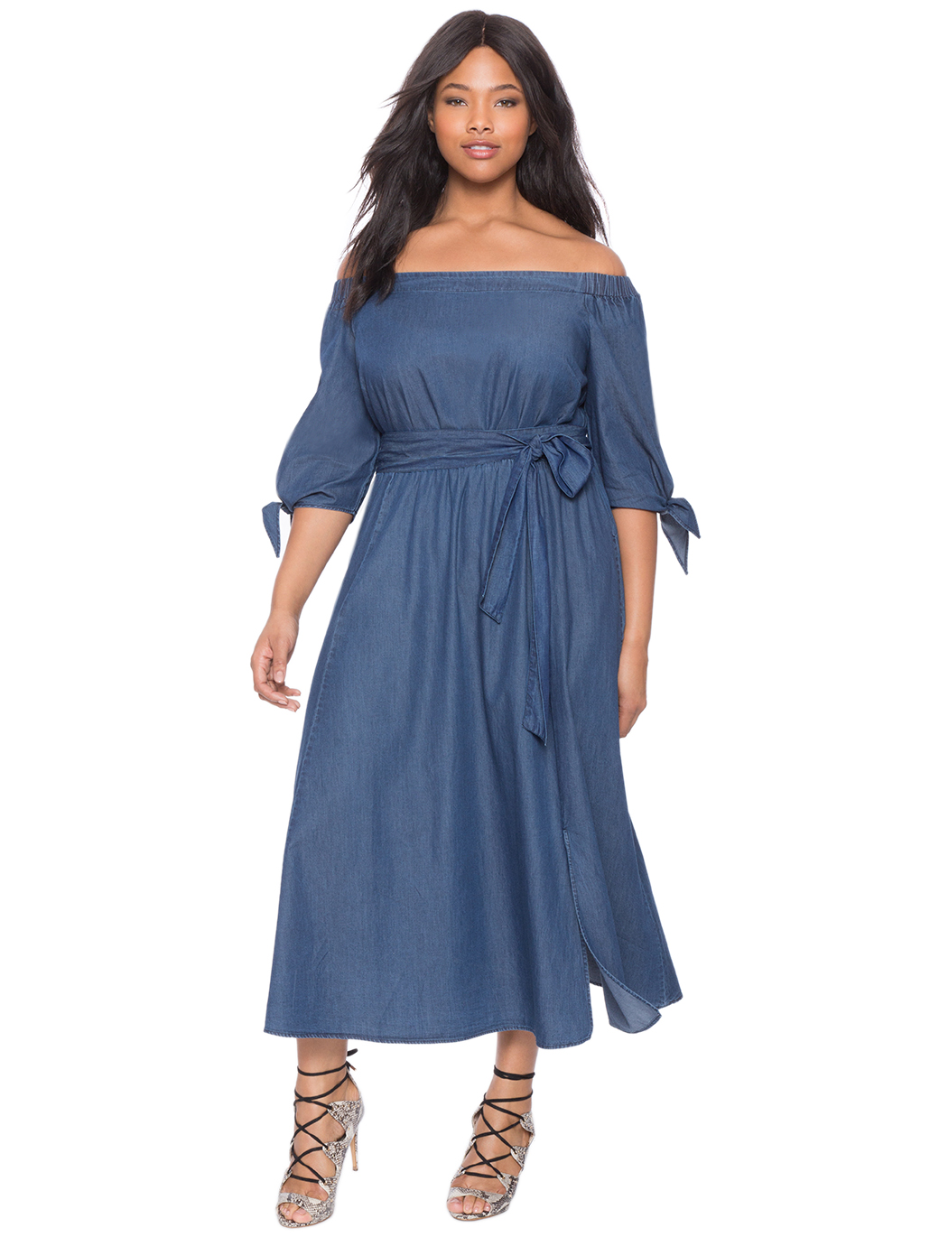 plus size attire in royal blue