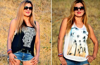 california tank top elephant elephant print pineapple print dreamcatcher