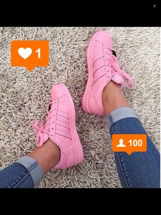 shoes adidas supercolor light pink