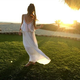 dress white dress bohemian dress maxi dress white maxi dress