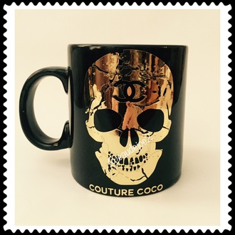 home accessory chanel mug skull mug mug chanel skull