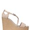 130mm suede wedge sandals