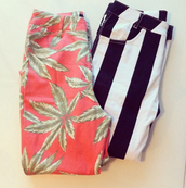 pants,weed,stripes,striped pants