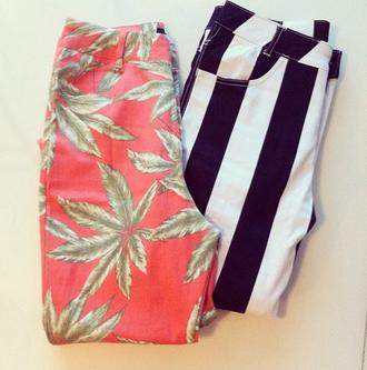 pants weed stripes striped pants