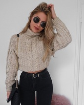 sweater,turtleneck,vintage,fashion toast,fall outfits,winter outfits,sweaters cute print food yum,wool,grey,knit,beige,brown,beige sweater,casual,cable knit,sweatshirt