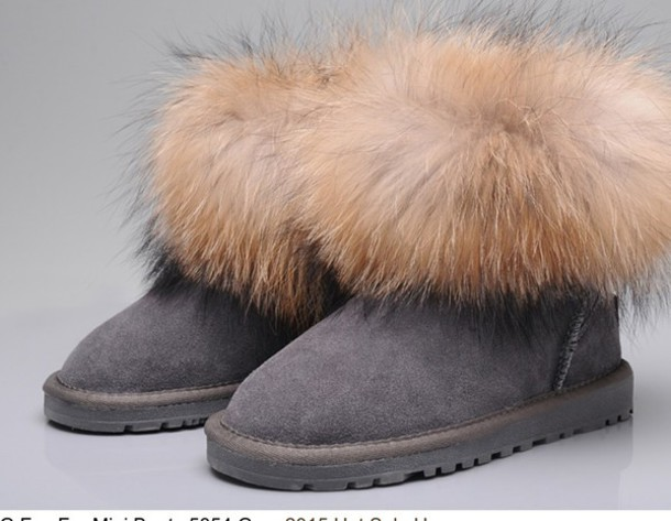 ugg boots with fur top